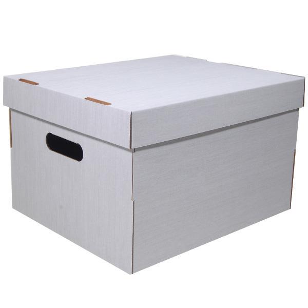Νext κουτί fabric λευκό Α4 Υ19x30x25,5εκ.