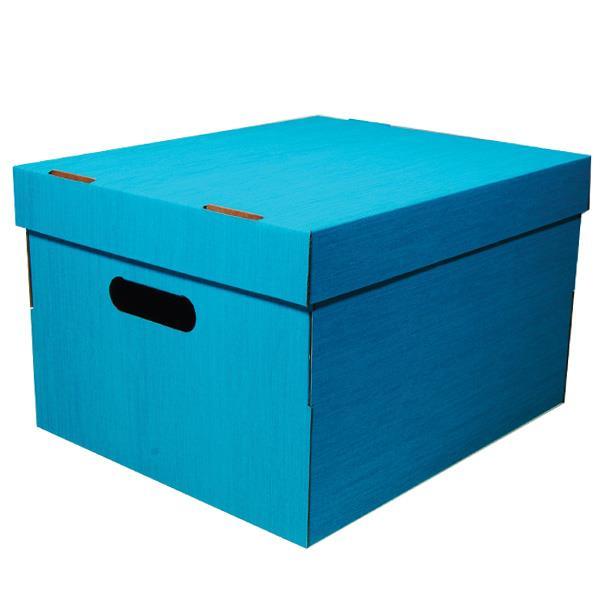 Νext κουτί fabric γαλάζιο Α4 Υ19x30x25,5εκ.