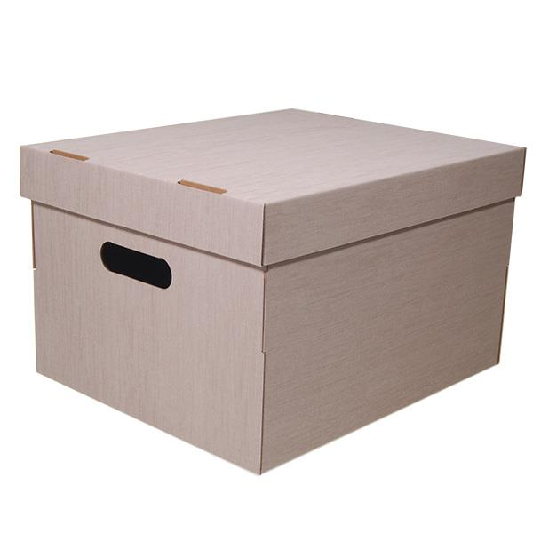 Νext κουτί fabric μπεζ Α4 Υ19x30x25,5εκ.