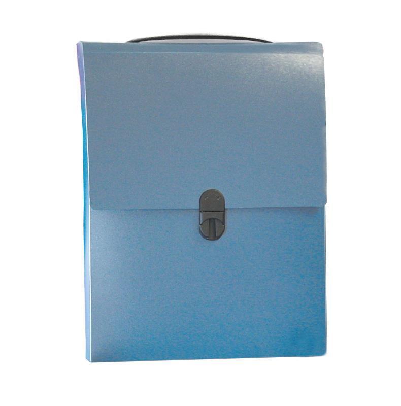 Next τσάντα συνεδρίων όρθια PP μπλε διάφανη Υ32x24x5εκ.