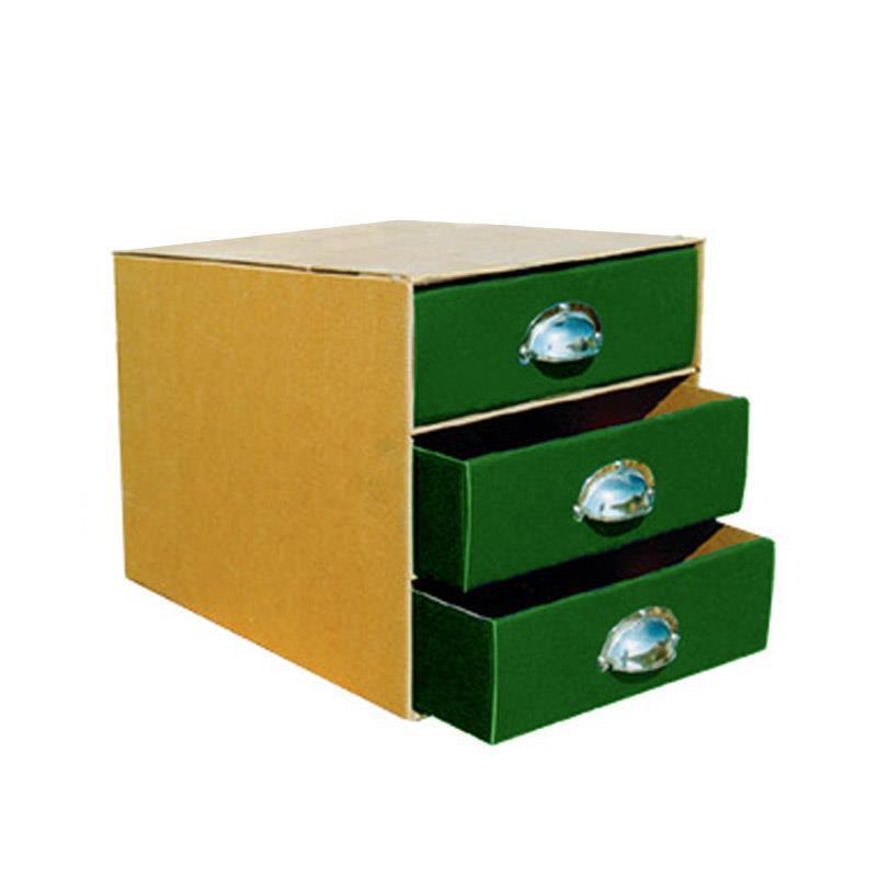 Next συρταριέρα 3συρτ. classic πράσινα - μεταλ. λαβές Α4 Υ24x36x33εκ.