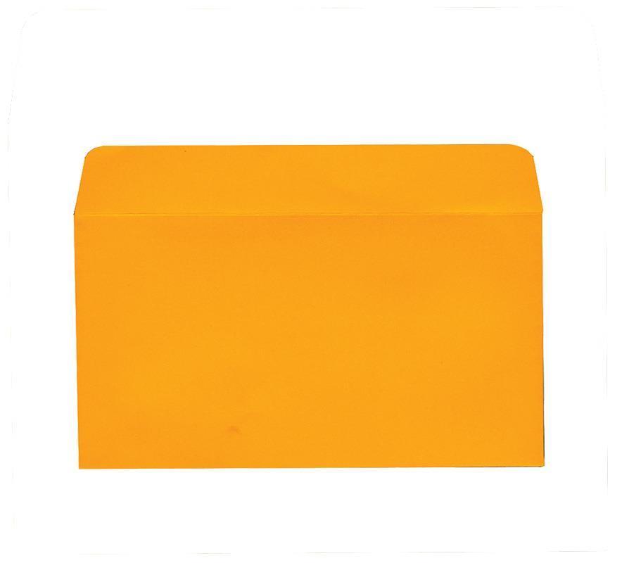 Φάκελος πολυτ. 200γρ. πορτοκαλί 11x22εκ.  20τμχ