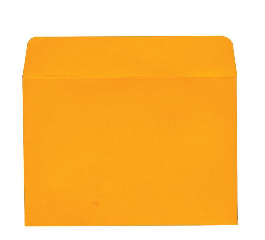 Φάκελος πολυτ. 200γρ. πορτοκαλί 13x18εκ. 20τμχ