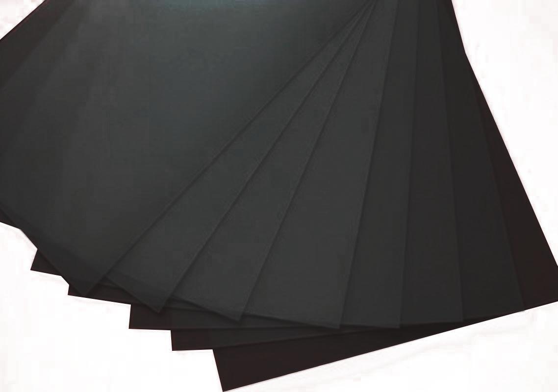Πολυπροπυλένιο (pp) 10 φύλλα Α4 μαύρο 0.7χιλ. πάχος