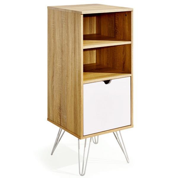 Συρταριέρα καφέ με ράφια και ντουλάπι Υ102x40x44,5εκ. βάθος