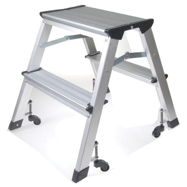 Σκάλα mini με ρόδες - 2 σκαλοπάτια Υ46εκ.