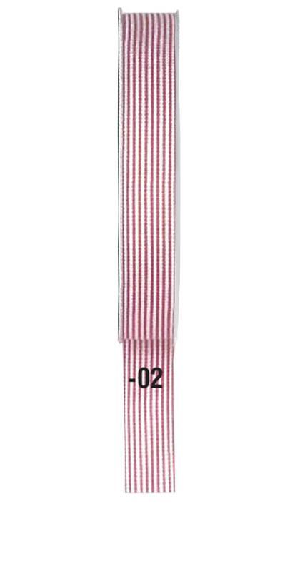 Κορδέλα ριγέ κόκκινη 15mm x 20μ.