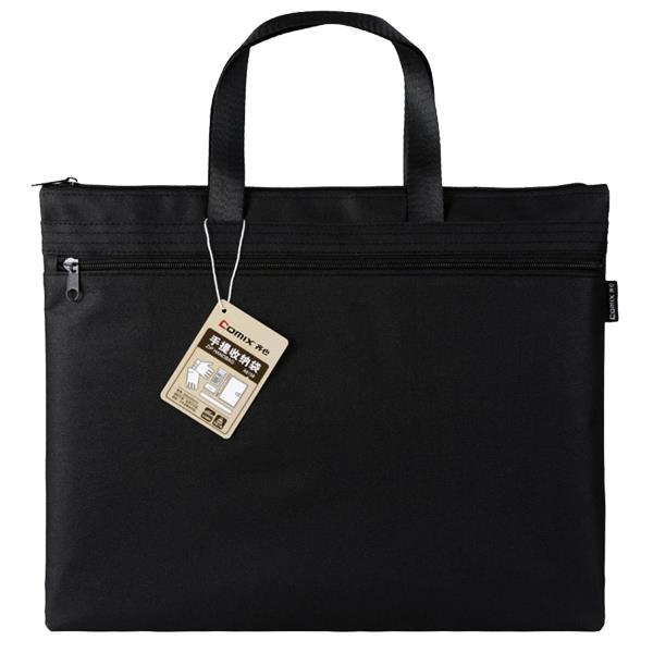 Comix τσάντα εγγράφων, 39x30.5 εκ., μαύρη, με δύο θήκες