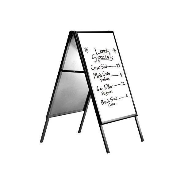 Πίνακας μενού εστιατορίου με μαύρο περίγραμμα και λευκή επιφάνεια 60χ80 εκ.