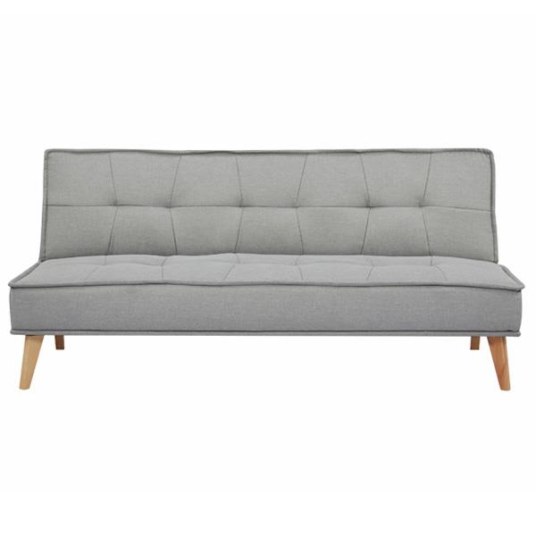 Tokyo καναπές-κρεβάτι τριθέσιος ανοιχτό γκρι Υ82x181x91εκ.