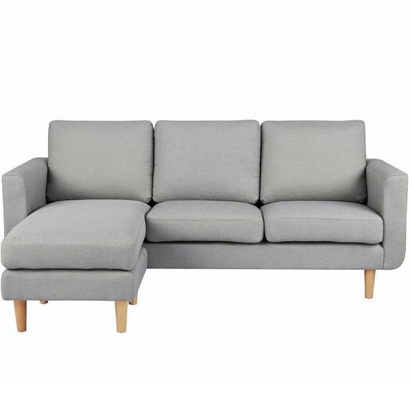 Flex καναπές γωνιακός ανοιχτό γκρι Υ83x197x137εκ.