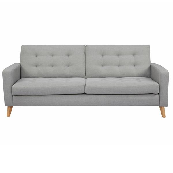 Soho καναπές-κρεβάτι τριθέσιος ανοιχτό γκρι Υ81x201x90εκ.