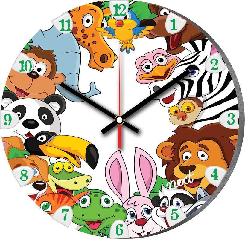 """Νext ρολόι Ø31εκ. """"ζώα της ζούγκλας"""""""
