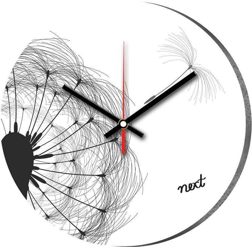 """Νext ρολόι Ø31εκ. """"ασπρόμαυρο λουλούδι"""""""