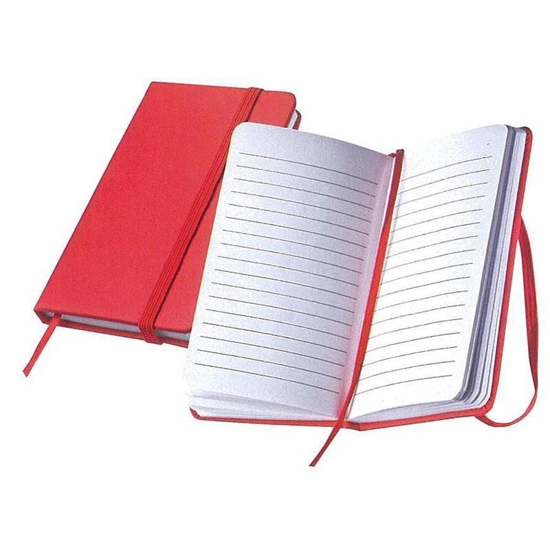 Σημειωματάριο ραφτό κόκκινο Υ13x8εκ.