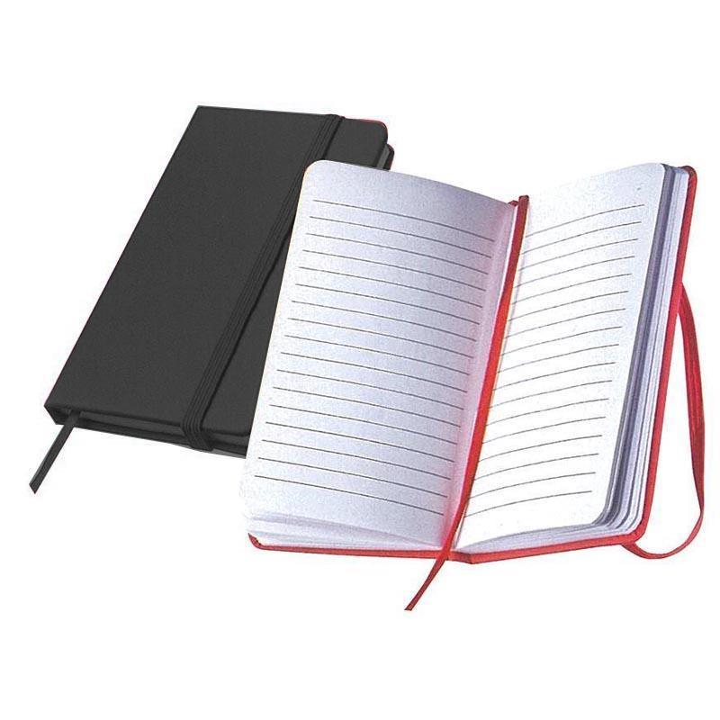 Σημειωματάριο ραφτό μαύρο Υ13x8εκ.