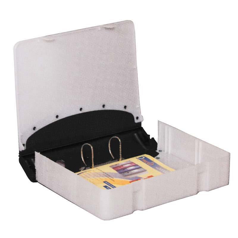 Κλασέρ-κουτί αρχειοθέτ. PP μαύρο Υ36x28x7,5εκ.