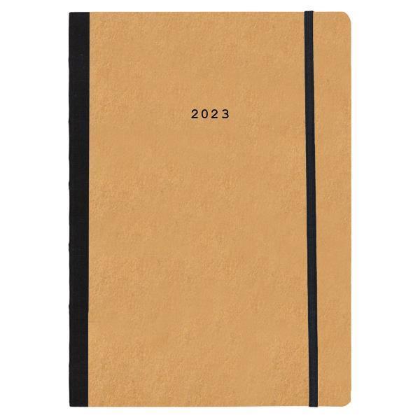 Next ημερολόγιο 2022 Natural εβδομαδιαίο flexi μουσταρδί με λάστιχο 17x25εκ.