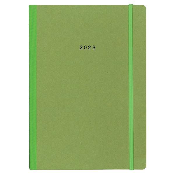 Next ημερολόγιο 2022 Natural εβδομαδιαίο flexi πράσινο με λάστιχο 17x25εκ.