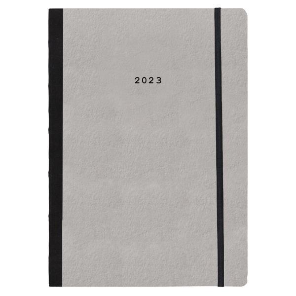 Next ημερολόγιο 2022 Natural ημερήσιο flexi γκρι ανοιχτό με λάστιχο 17x25εκ.