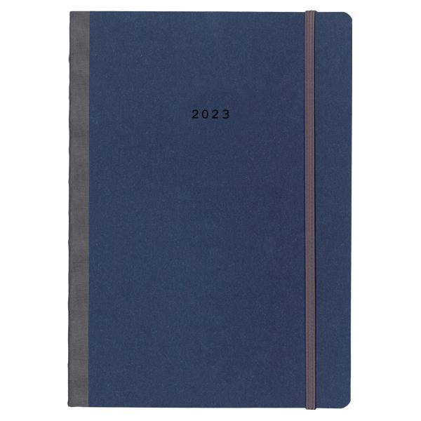 Next ημερολόγιο 2022 Natural ημερήσιο flexi  μπλε με λάστιχο 14x21εκ.