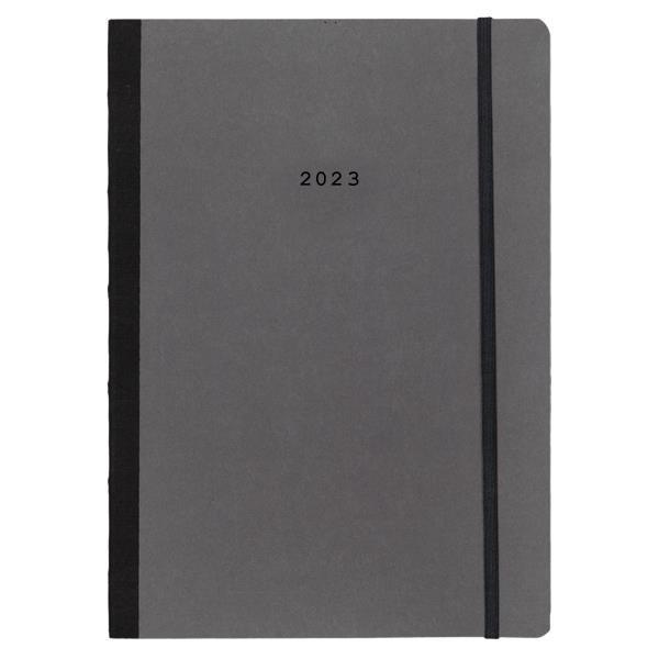 Next ημερολόγιο 2022 Natural ημερήσιο flexi γκρι σκούρο με λάστιχο 14x21εκ.