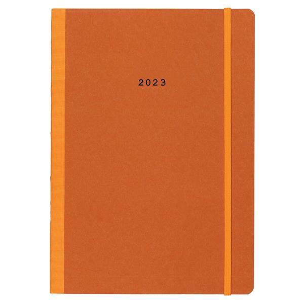 Next ημερολόγιο 2022 Natural ημερήσιο flexi πορτοκαλί με λάστιχο 14x21εκ.