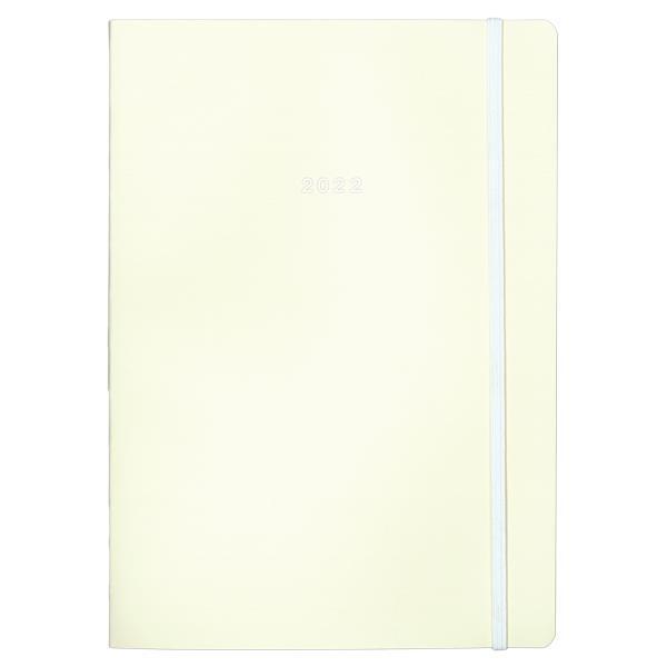 Next ημερολόγιο 2022 Pastel ημερήσιο flexi λευκό με λάστιχο 14x21εκ.