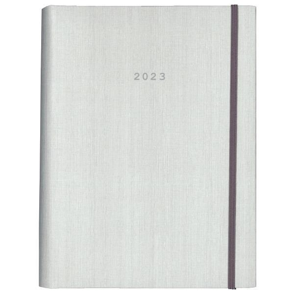 Next ημερολόγιο 2022 fabric ημερήσιο κρυφό σπιράλ λευκό 17x25εκ.