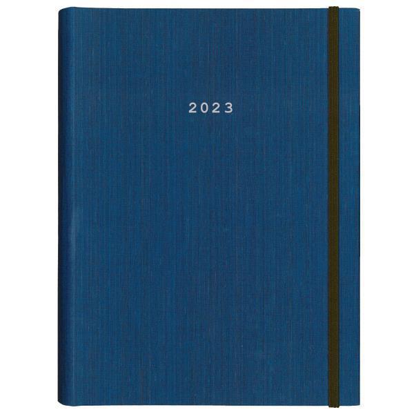 Next ημερολόγιο 2022 fabric ημερήσιο κρυφό σπιράλ μπλε 17x25εκ.