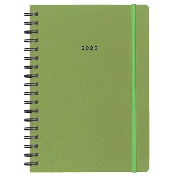 Next ημερολόγιο 2022 Natural ημερήσιο σπιράλ πράσινο με λάστιχο 14x21εκ.