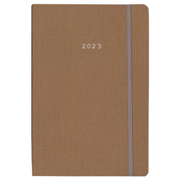 Next ημερολόγιο 2022 nomad ημερήσιο flexi καφέ με λάστιχο 14x21εκ.
