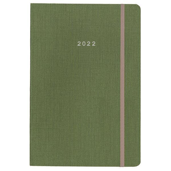 Next ημερολόγιο 2022 nomad ημερήσιο flexi πράσινο με λάστιχο 12x17εκ.