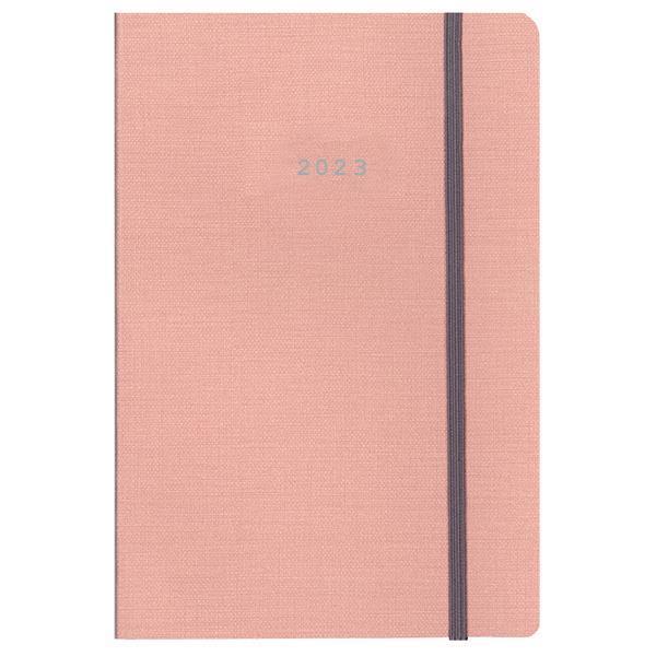 Next ημερολόγιο 2022 nomad ημερήσιο flexi ροζ με λάστιχο 12x17εκ.