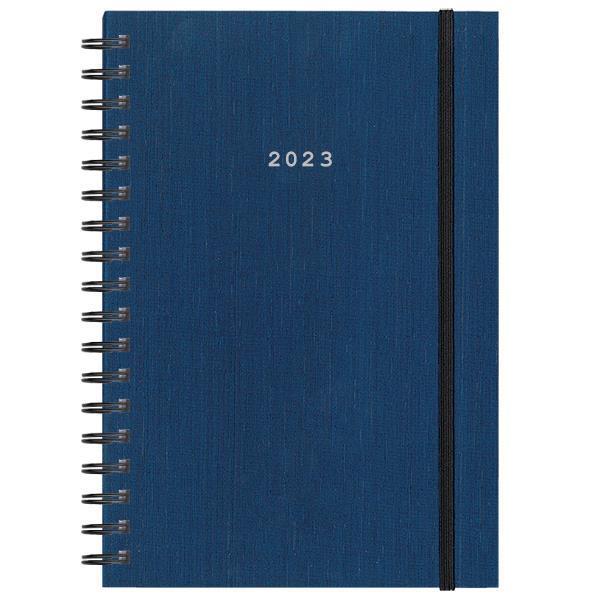 Next ημερολόγιο 2022 fabric plus ημερήσιο σπιράλ μπλε 17x25εκ.