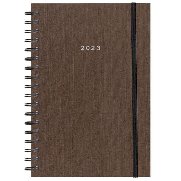 Next ημερολόγιο 2022 fabric plus ημερήσιο σπιράλ καφέ 17x25εκ.