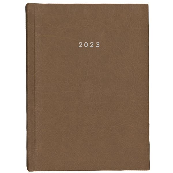 Next ημερολόγιο 2022 old leather ημερήσιο δετό καφέ ανοιχτό 17x25εκ.