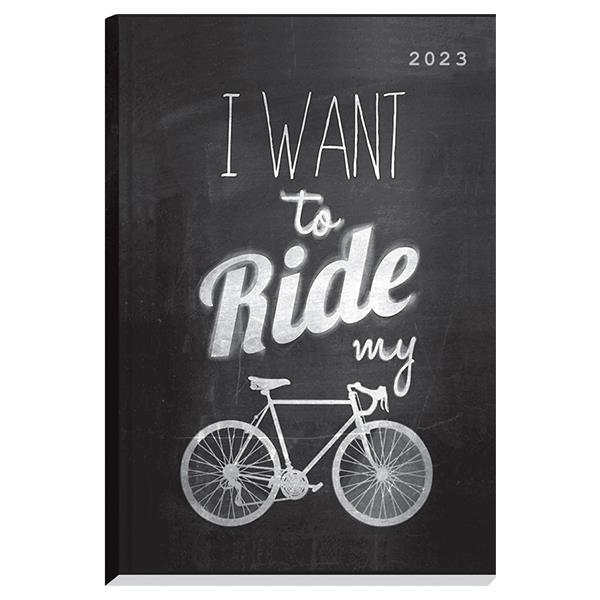 Next ημερολόγιο 2022 Gallery ημερήσιο δετό 12x17εκ, Riding μαύρο