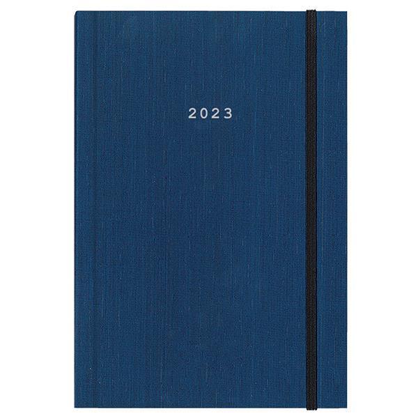 Next ημερολόγιο 2022 fabric ημερήσιο δετό μπλε με λάστιχο 17x25εκ.