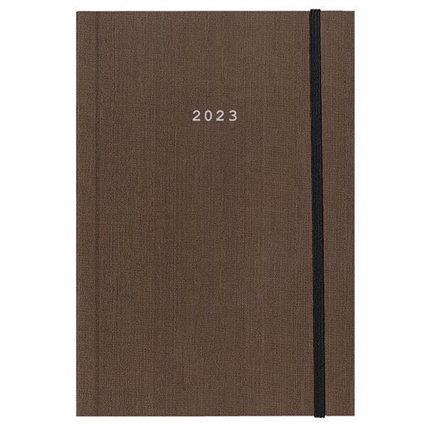 Next ημερολόγιο 2022 fabric ημερήσιο δετό καφέ με λάστιχο 17x25εκ.