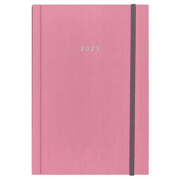 Next ημερολόγιο 2022 fabric ημερήσιο δετό ροζ με λάστιχο 17x25εκ.