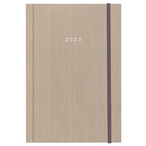 Next ημερολόγιο 2022 fabric ημερήσιο δετό μπεζ με λάστιχο 17x25εκ.