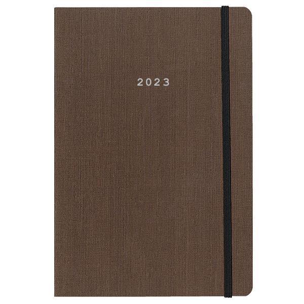 Next ημερολόγιο 2022 fabric ημερήσιο flexi καφέ με λάστιχο 17x25εκ.