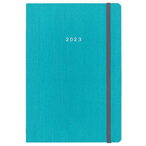 Next ημερολόγιο 2022 fabric ημερήσιο flexi γαλάζιο με λάστιχο 17x25εκ.