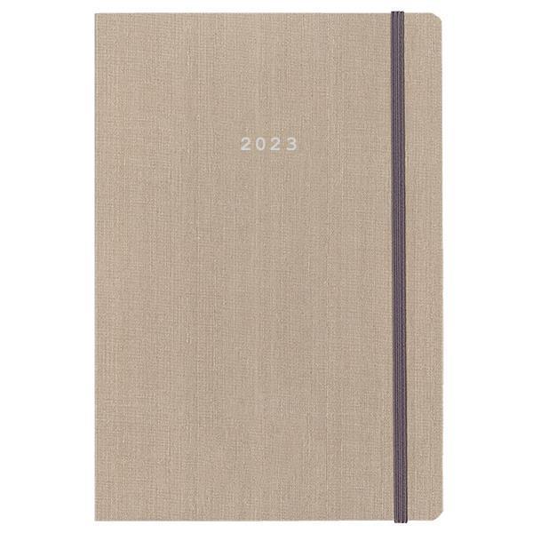 Next ημερολόγιο 2022 fabric ημερήσιο flexi μπεζ με λάστιχο 17x25εκ.