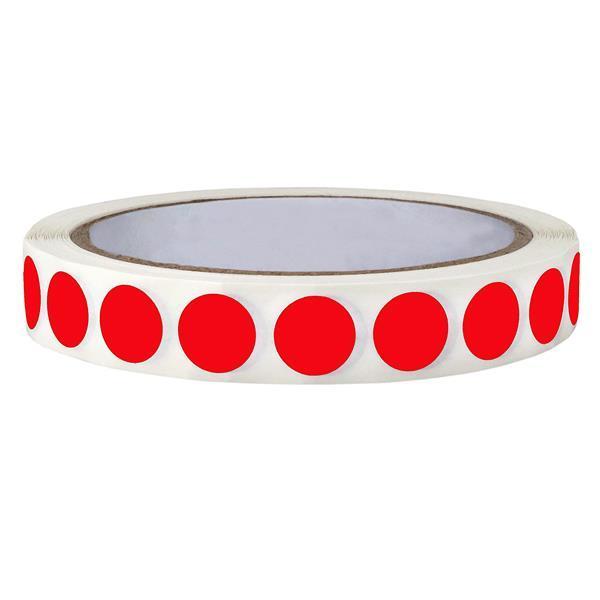 Ετικέτες αυτοκ.στρόγγυλες Ø13mm κόκκινες ρολλό 1000τεμ