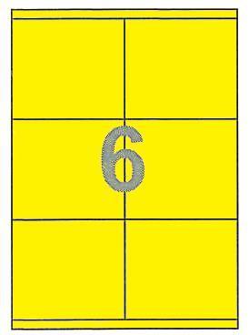 Fleks ετικέτ. αυτοκόλ. κίτρινες 105x96mm 6/φ 25φ Α4