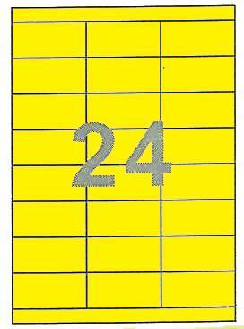 Fleks ετικέτ. αυτοκόλ. κίτρινες 70x35mm 24/φ 25φ Α4
