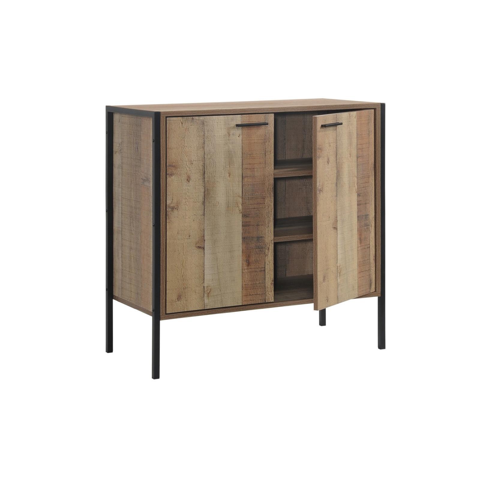PALLET-W παπουτσοθήκη-ντουλάπι με 3 ράφια antique oak Y80x80x40εκ.