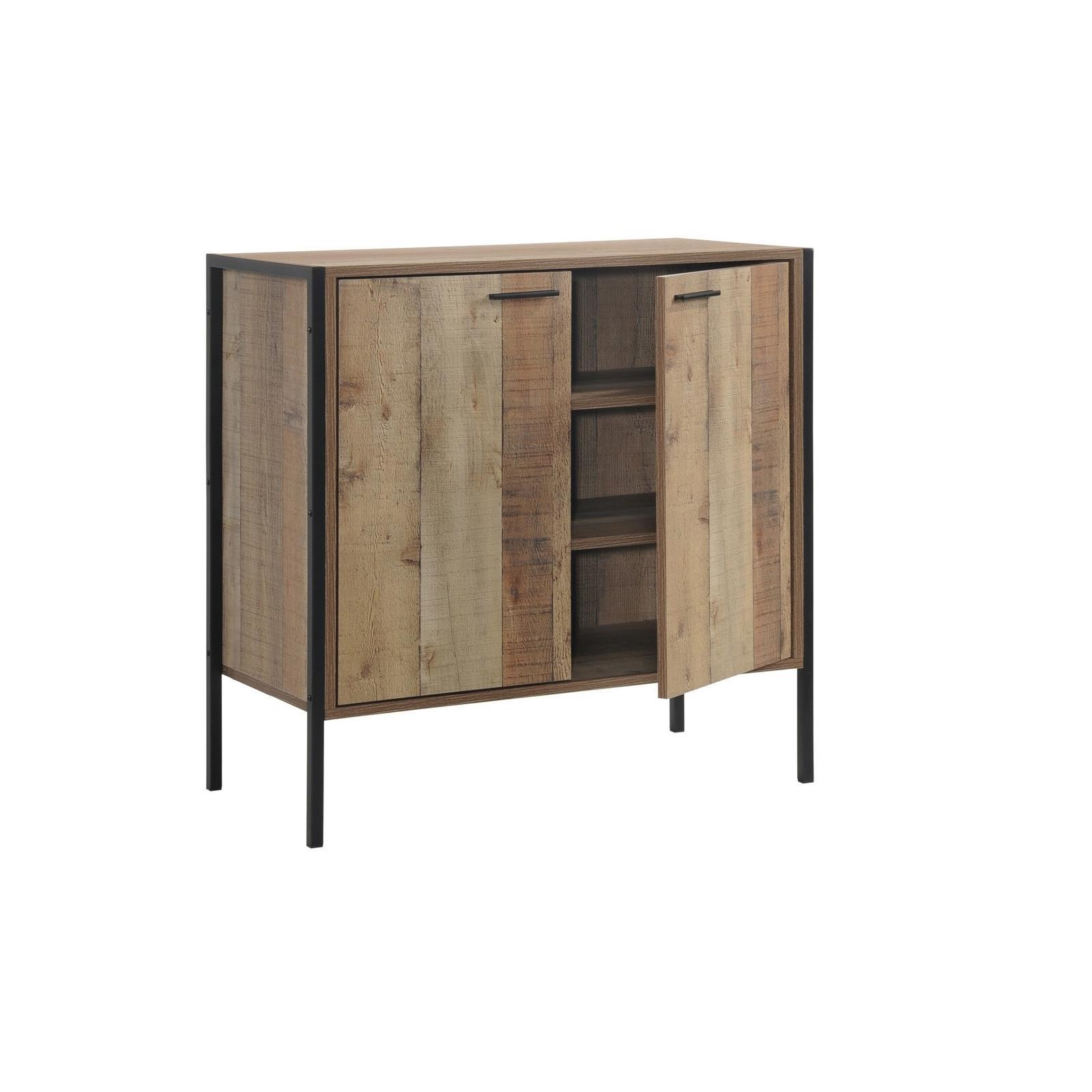 PALLET παπουτσοθήκη-ντουλάπι με 3 ράφια antique oak Υ80x40x40εκ.